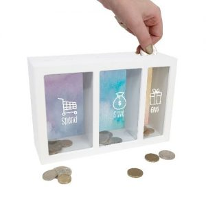 Spend Save Give Money Box