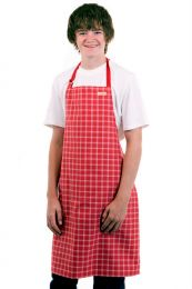 Crumbz Chef Apron, red check NOW $15 (was $29.95)