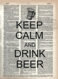 Vintage Dictionary Print - Keep Calm and Drink Beer
