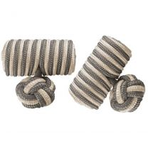 Wurkin Stiffs Knotz Cufflinks, Stainless Steel Barber Poll