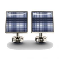 Wurkin Stiffs Cufflinks, Plaid Grey Square