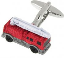 Fire engine cufflinks close-up
