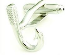 Fishing hook cufflinks