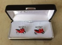 Red Racing Bike cufflinks