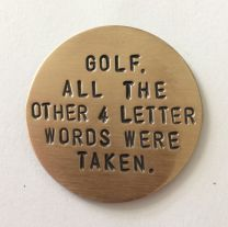 Front of bronze Golf Marker
