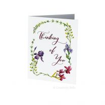 Iris Thinking of You Greeting Card