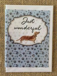 Just Wonderful Sausage Dog greeting card