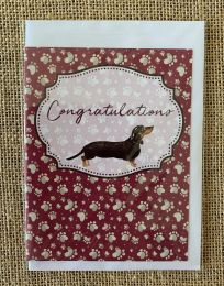 Greeting Card - Congratulations Sausage Dog (FREE DELIVERY)