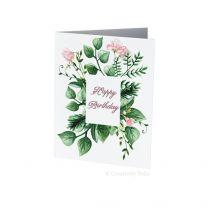 Sweet Pea Birthday Card