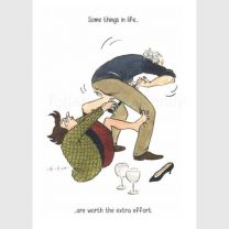 Greeting Card - Worth the Extra Effort (FREE DELIVERY)