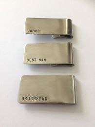 Groom, Best Man and Groomsman Money Clip