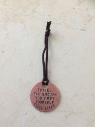 Copper Luggage Tag, front
