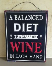 Wall Plaque - A Balanced Diet