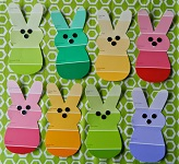 Easter Paint Card Bunnies